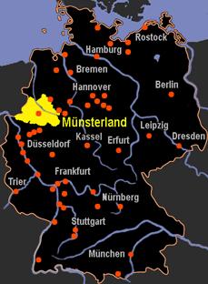 Karte Münsterland.Karte Münsterland Deutschland