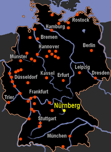 Nürnberg Karte Deutschland.Karte Nürnberg Deutschland