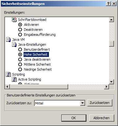 Java Aktiviert
